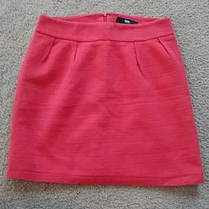 Mossimo Red Mini Skirt
